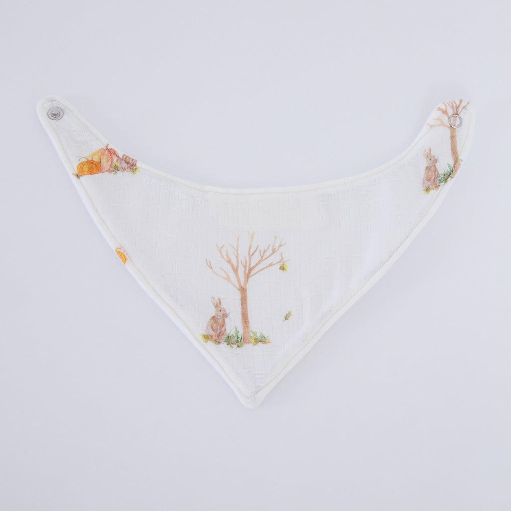 Rabbit Muslin Square Bib & Teether Baby Gifts Set - The Little Art Collection