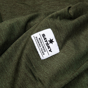 SAYSKY Clean Pace T-shirt T-SHIRTS OLIVE MELANGE