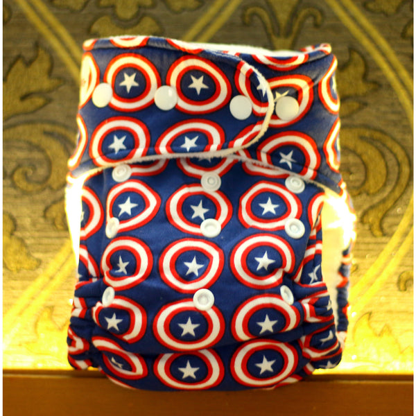 Captain America Adventures (100% Organic cotton) - Berry Dry