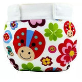 Glad Baby Diaper Cover - White Flowers