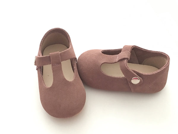 Mauve T-Bar Mary Jane Toddler Shoes