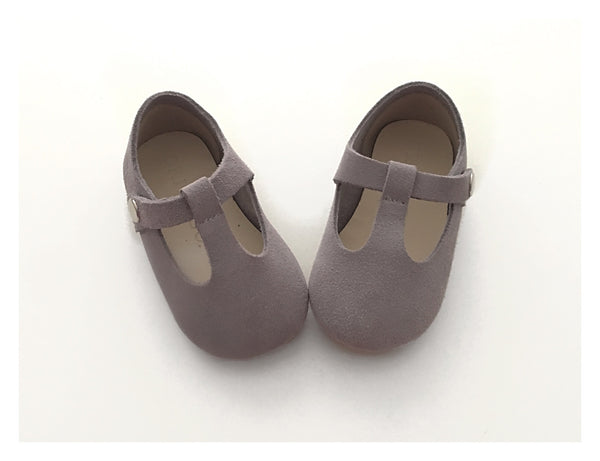 Light Grey T-Bar Mary Jane Shoes