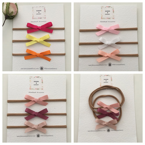 Scalloped Hand Tied Bow Headband
