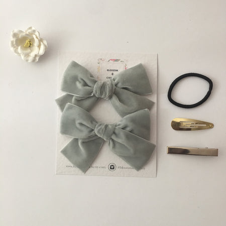Eliza - Set of 5 Baby Girl Hand Tied Bow Headbands.