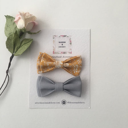 Liberty Capel Mustard Bow || Headband or Clip