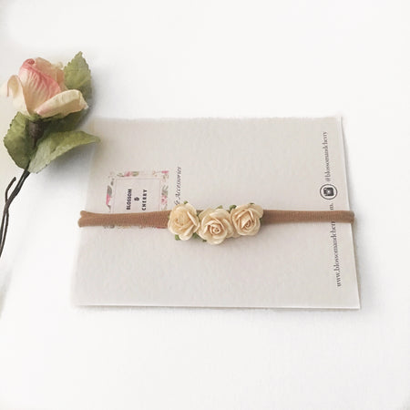 Mixed Mulberry Flower baby headband || Boho Baby Headband