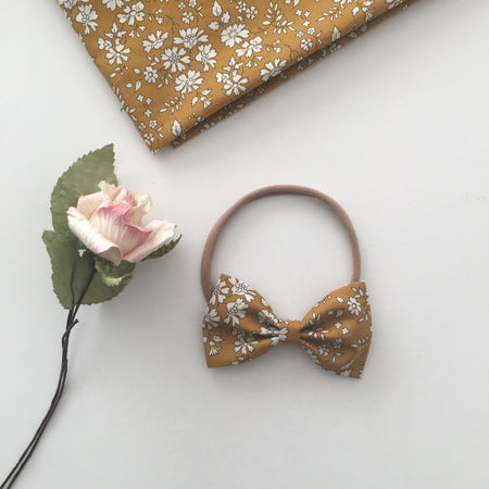 Cathy Liberty Floral Bow || Headband or Snap Clip