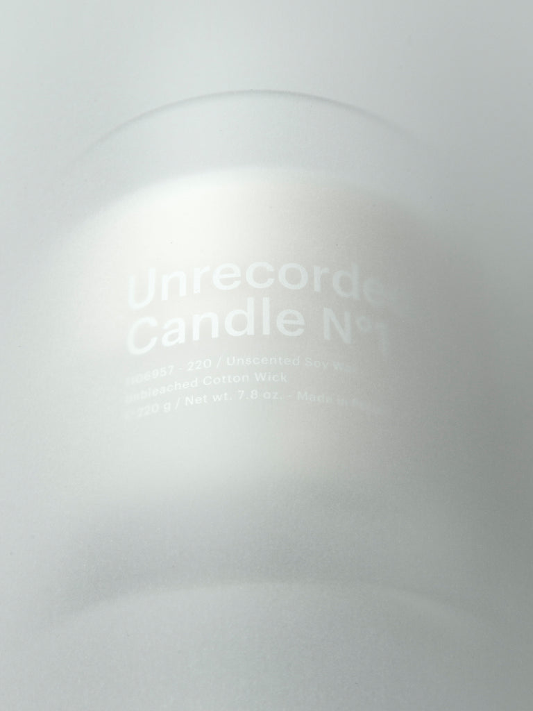 Unrecorded Candles.