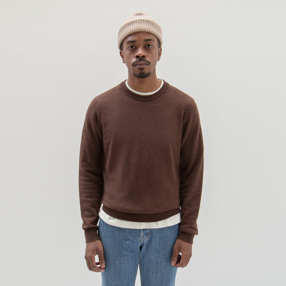 Lambswool Sweater Brown - Unrecorded
