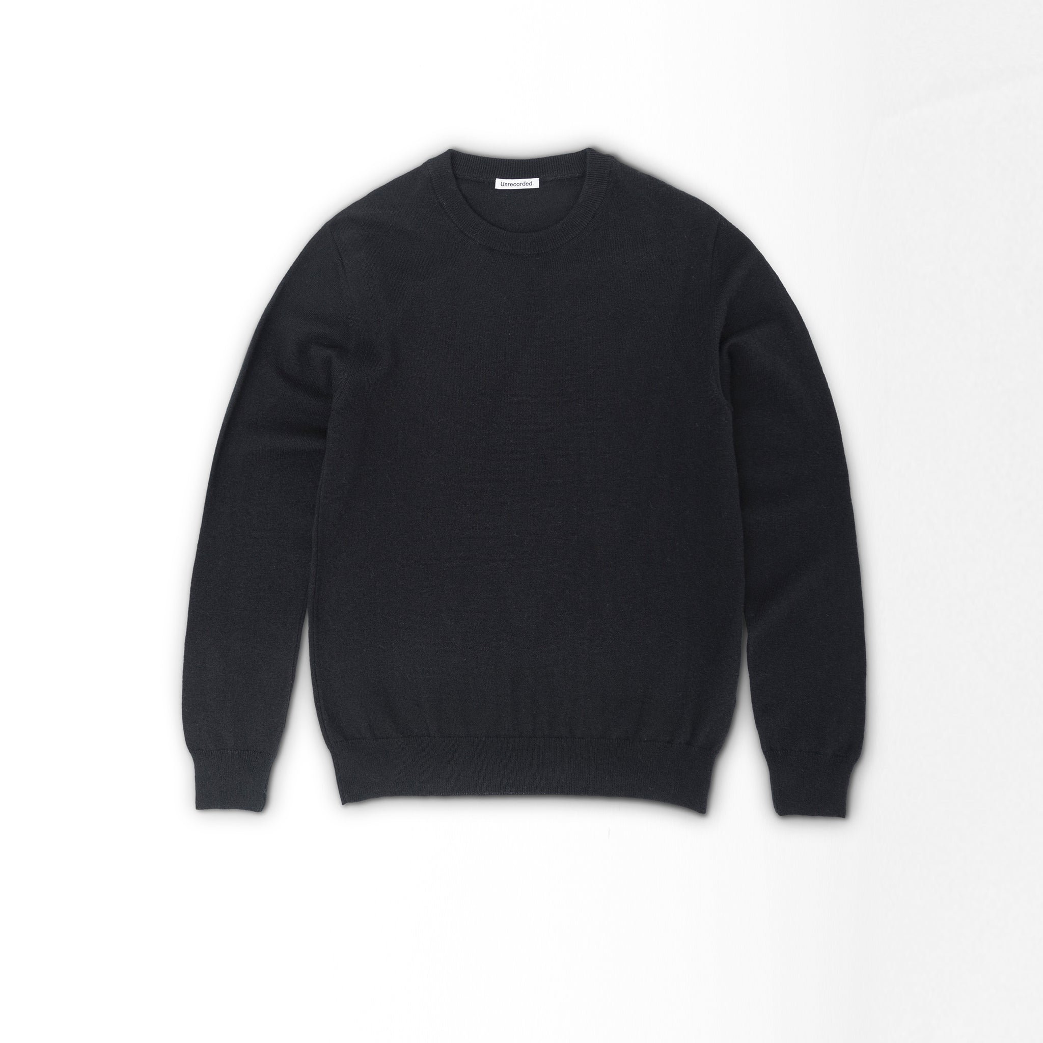 Lambswool Sweater in Black made from organic Wool - Alternate