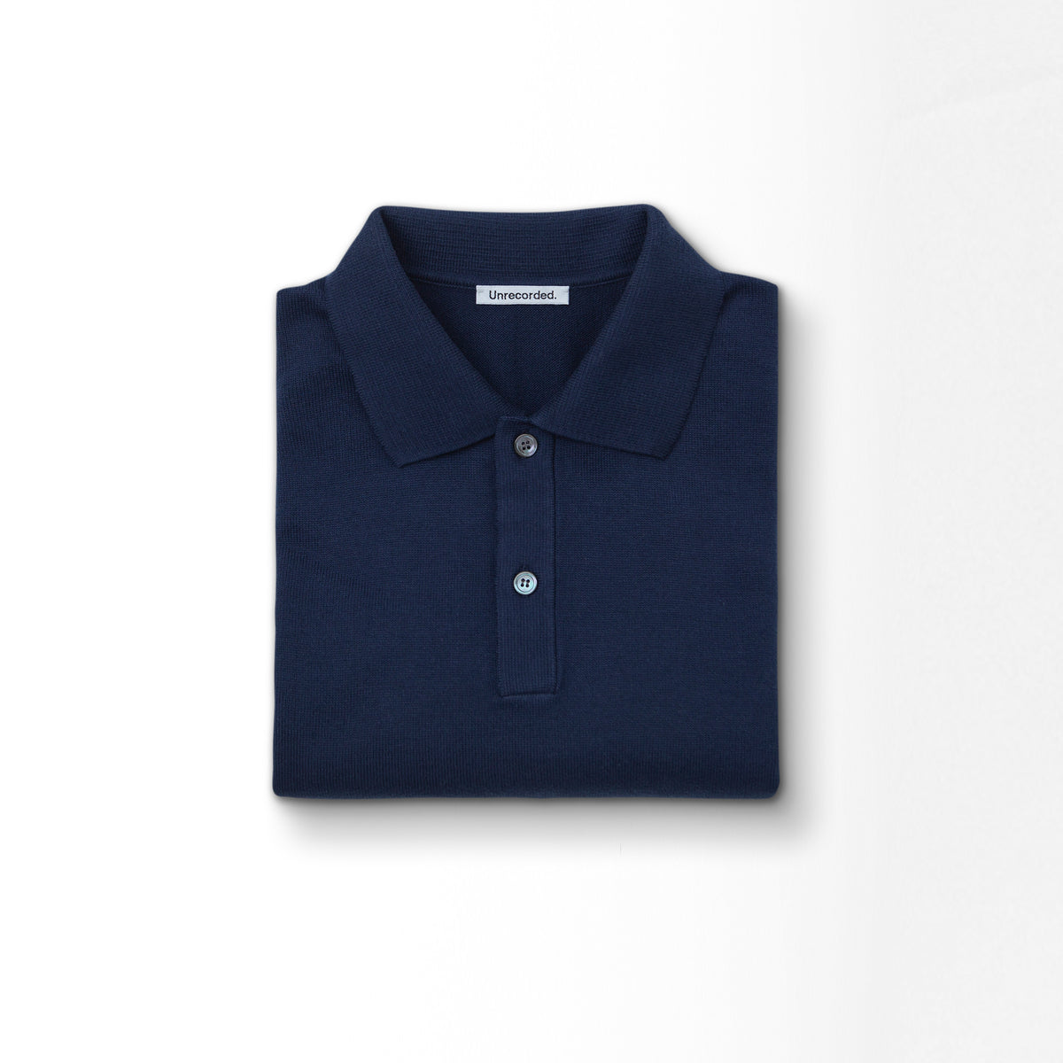 Knitted Polo Shirt Navy - Unrecorded