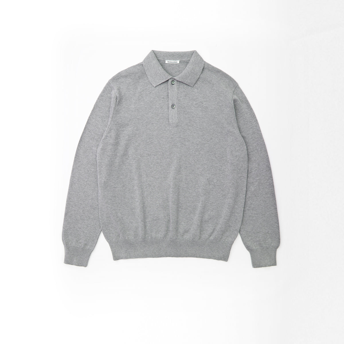Knitted Polo Shirt Grey - Unrecorded