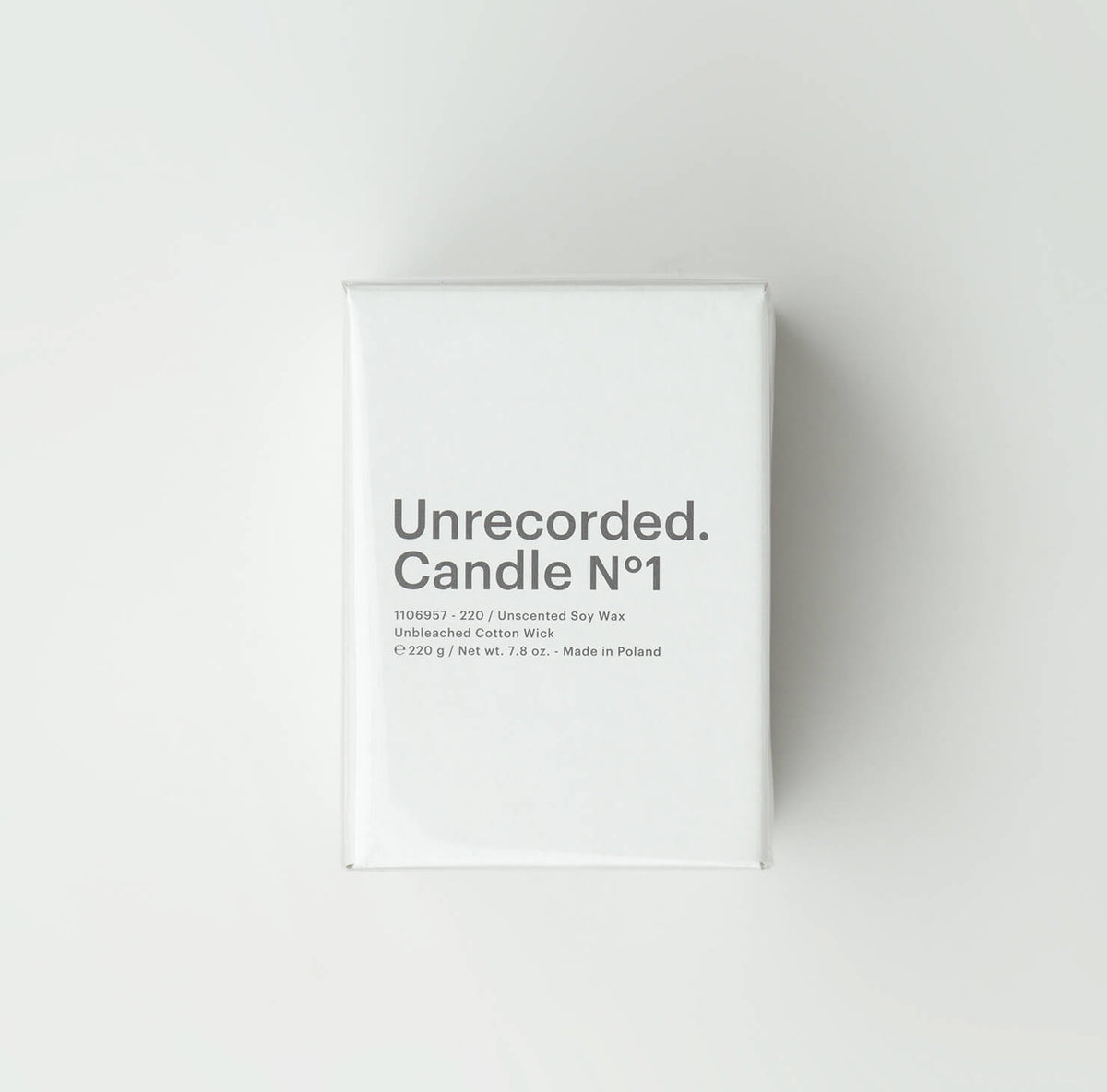 Candle N°1 / Unscented - Unrecorded