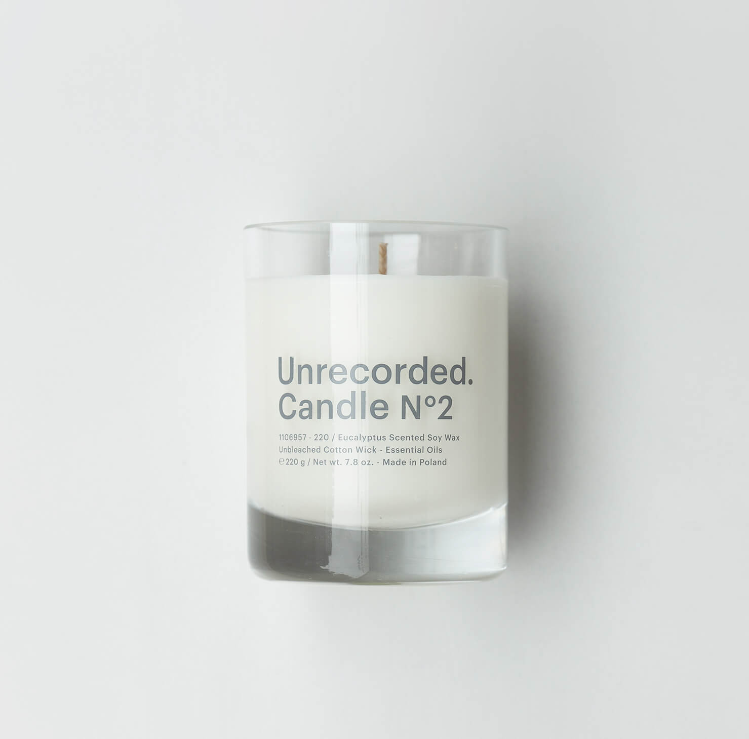 Candle N°2 / Eucalyptus - Unrecorded