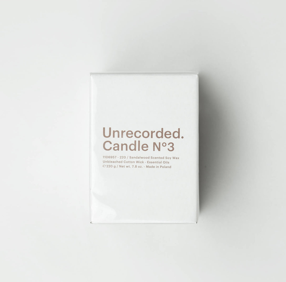 Candle N°3 / Sandalwood - Unrecorded