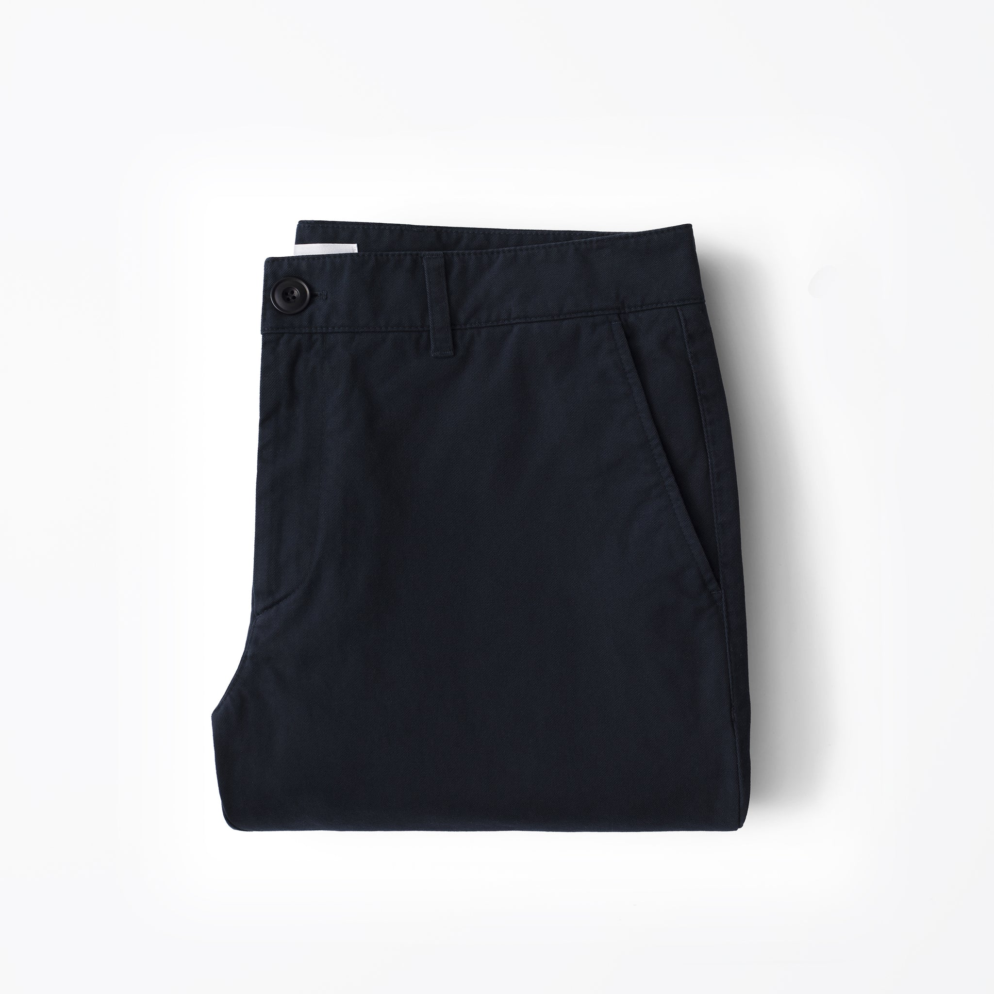 Chino in Navy made from organic cotton