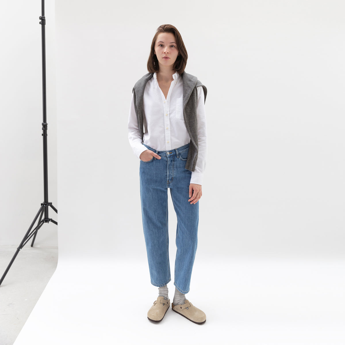 Cropped Jeans in Denim made from organic cotton -  Front Women - Only Women