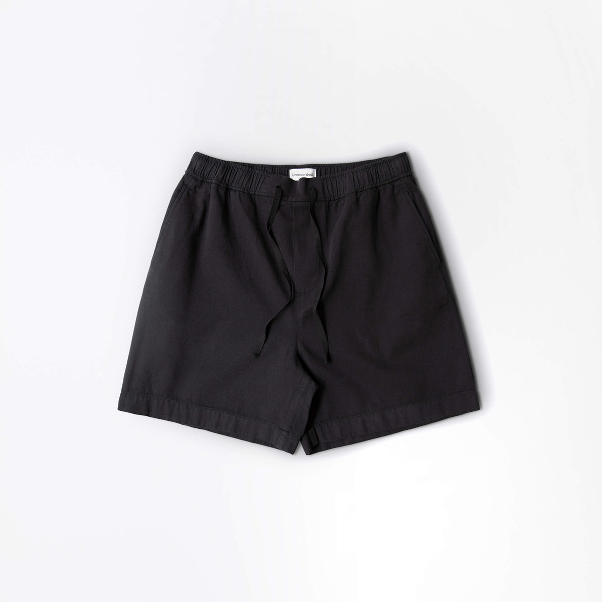 Sweatpant Short in Black made from organic cotton - Alternate