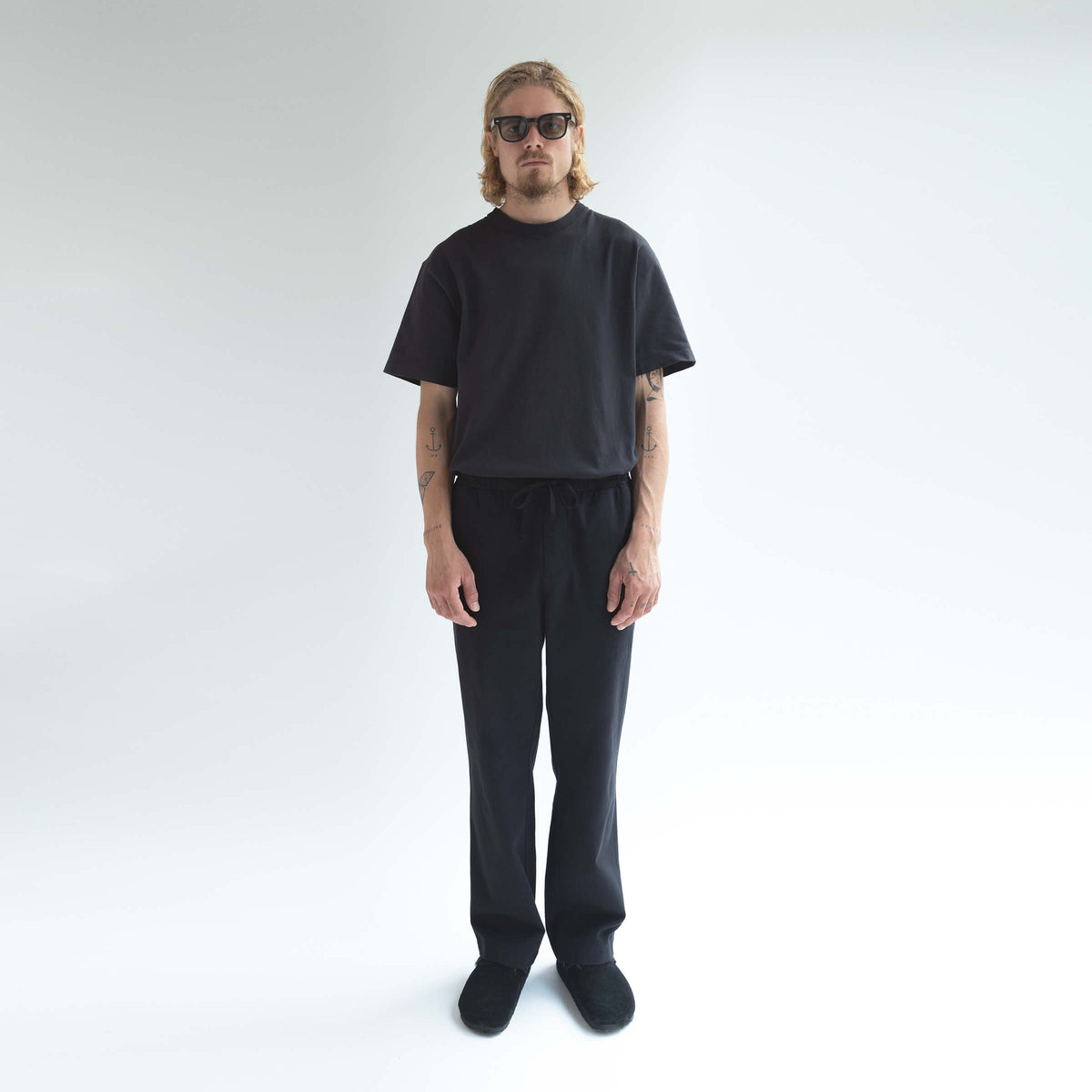 Drawstring Trousers Black - Unrecorded