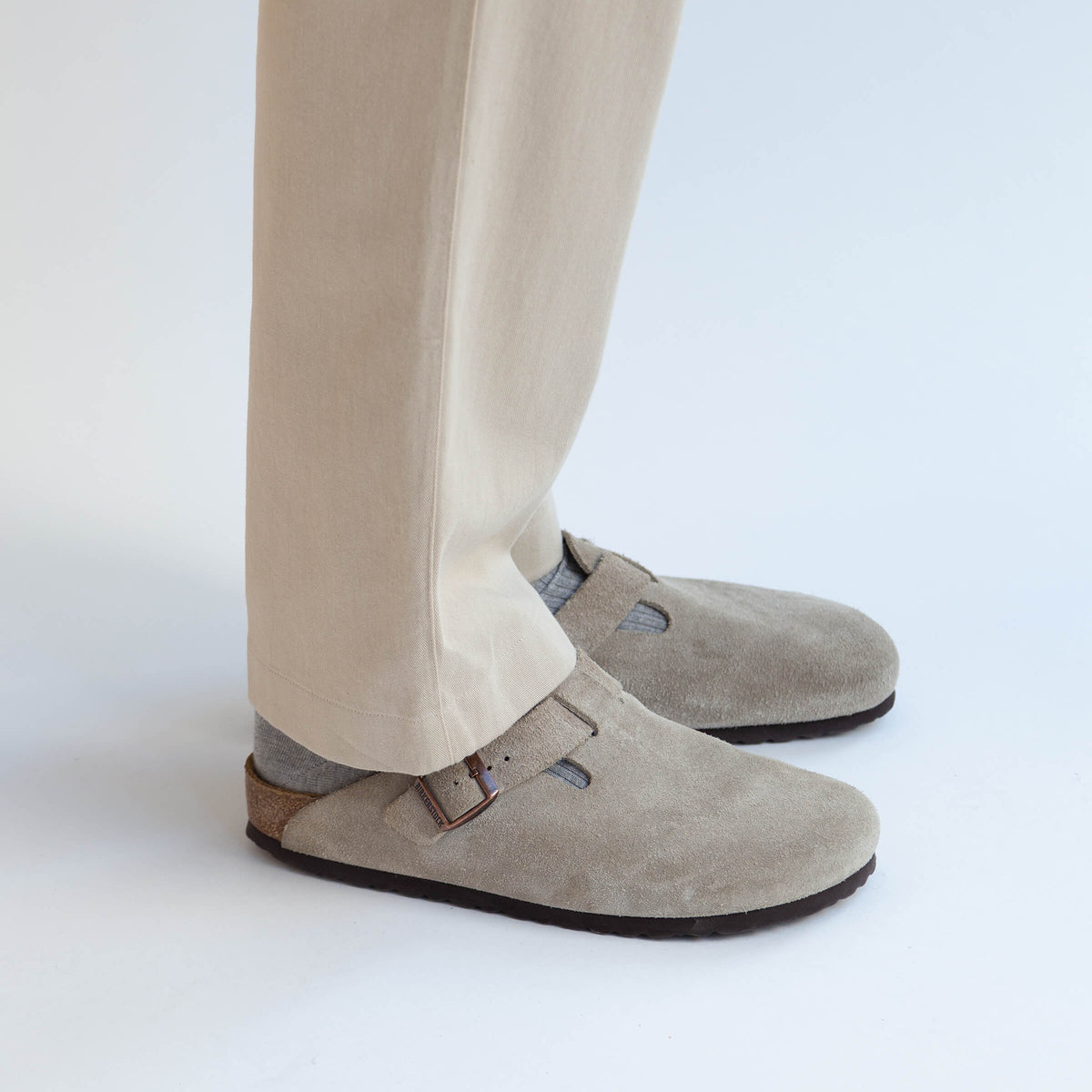 Drawstring Trousers in Khaki made from organic cotton - Men
