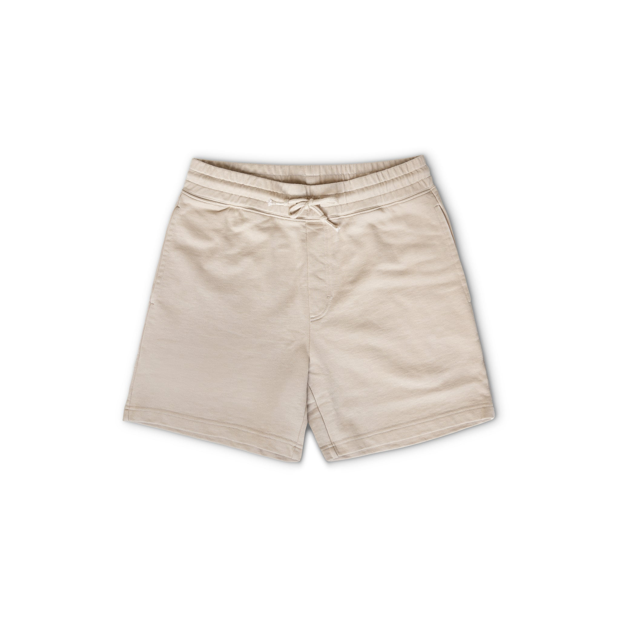Sweatpant Short in Khaki made from organic cotton - Alternate