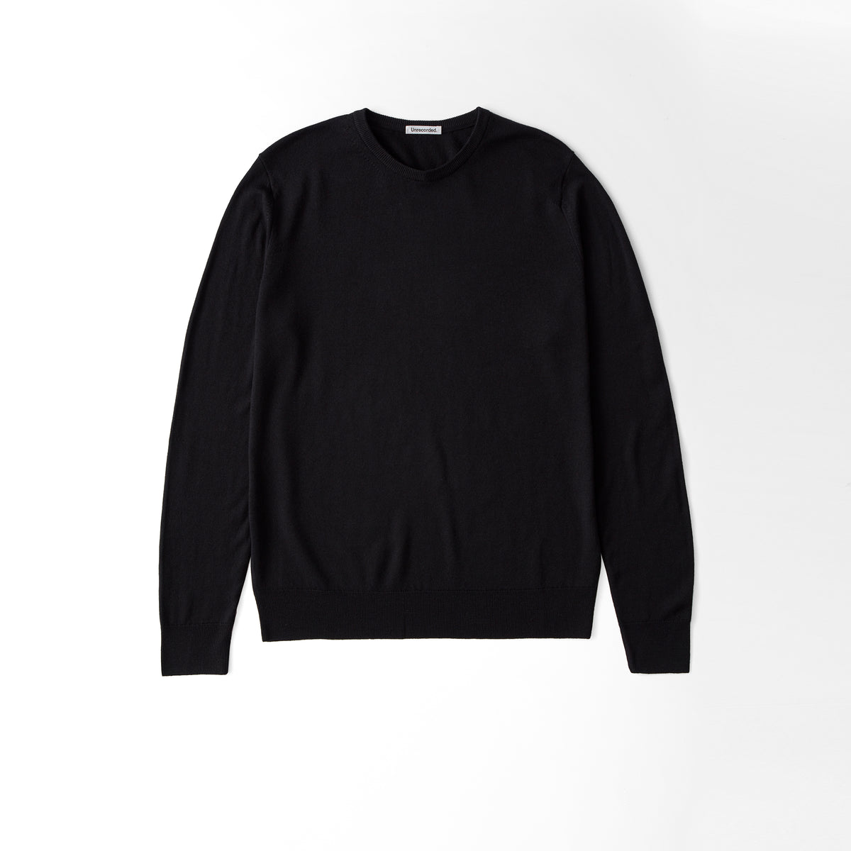 Merino Sweater Black - Unrecorded