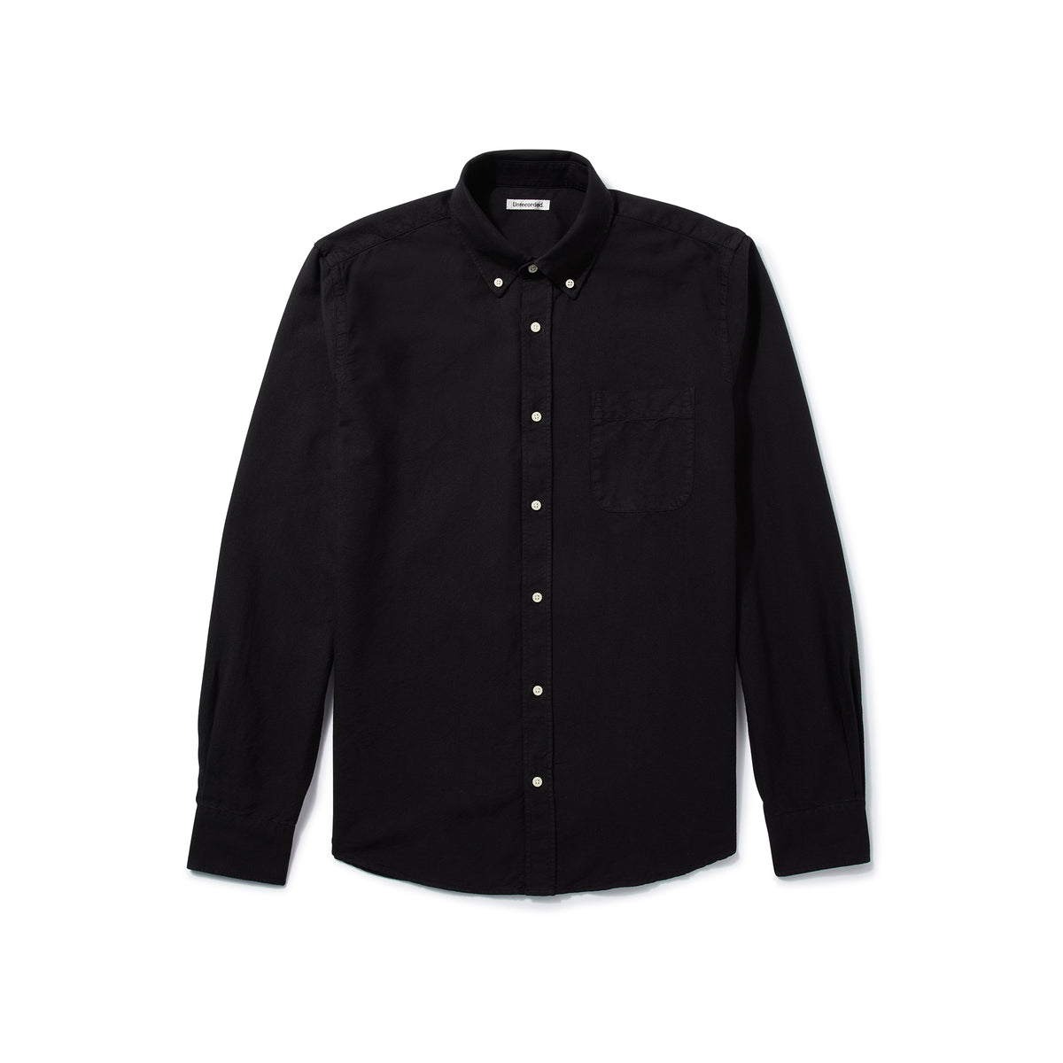 Oxford Shirt in Black made from Organic Cotton - Alternate