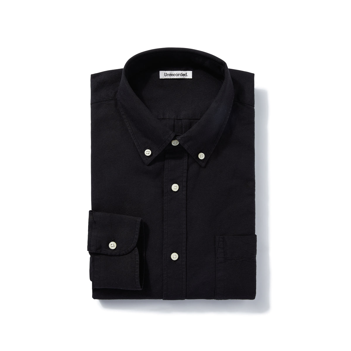 Oxford Shirt in Black made from Organic Cotton