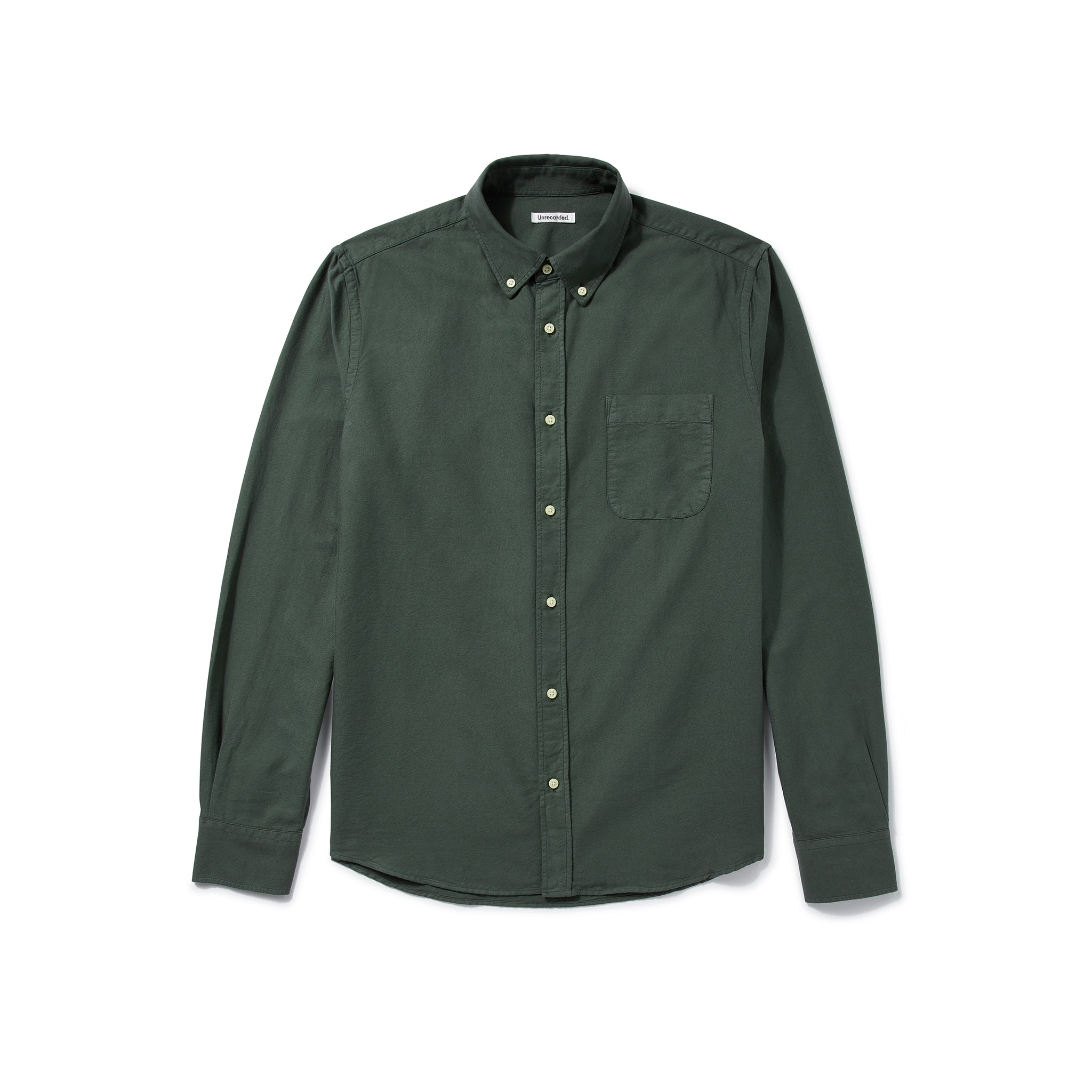 Oxford Shirt in Green made from organic cotton - Alternate