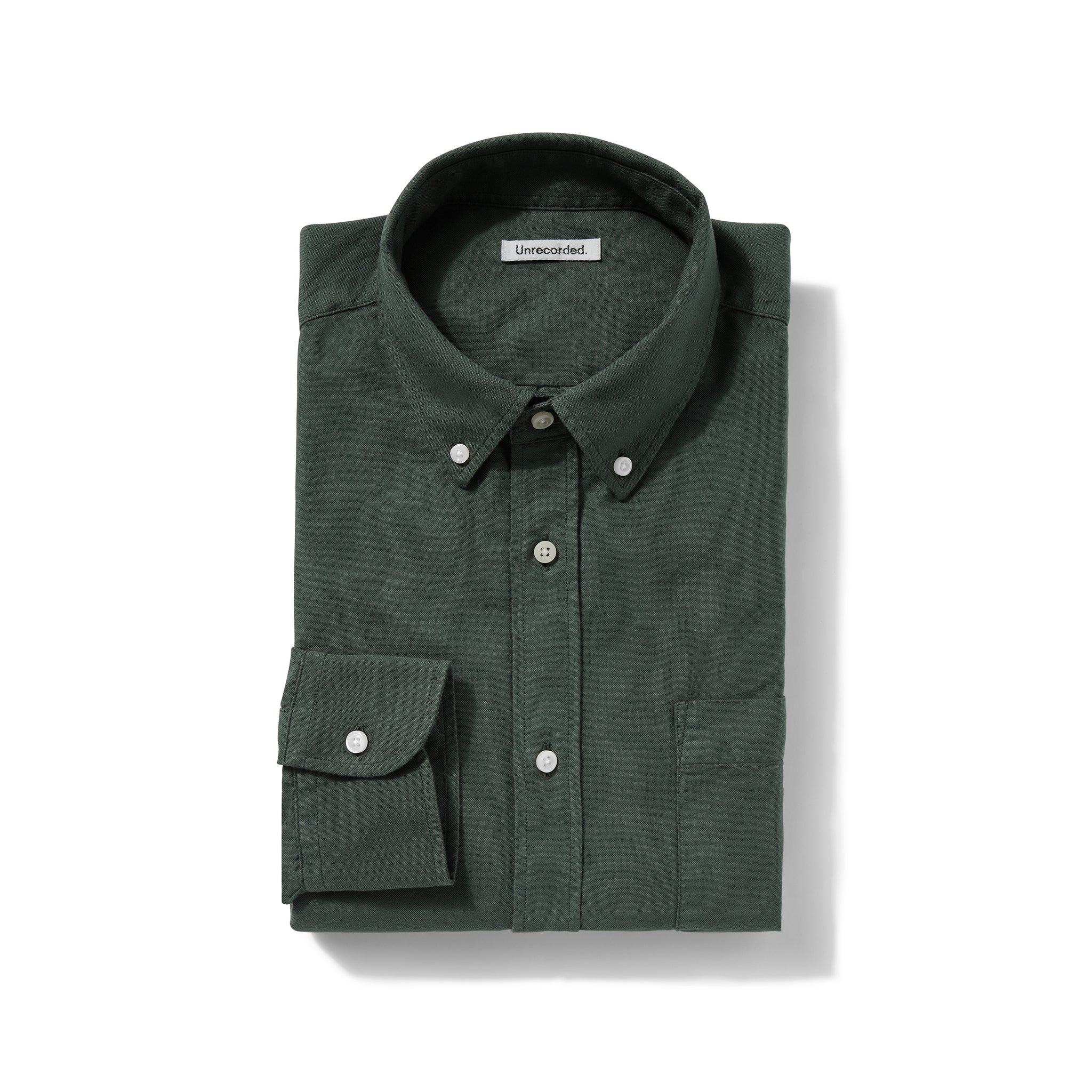 Oxford Shirt in Green made from organic cotton