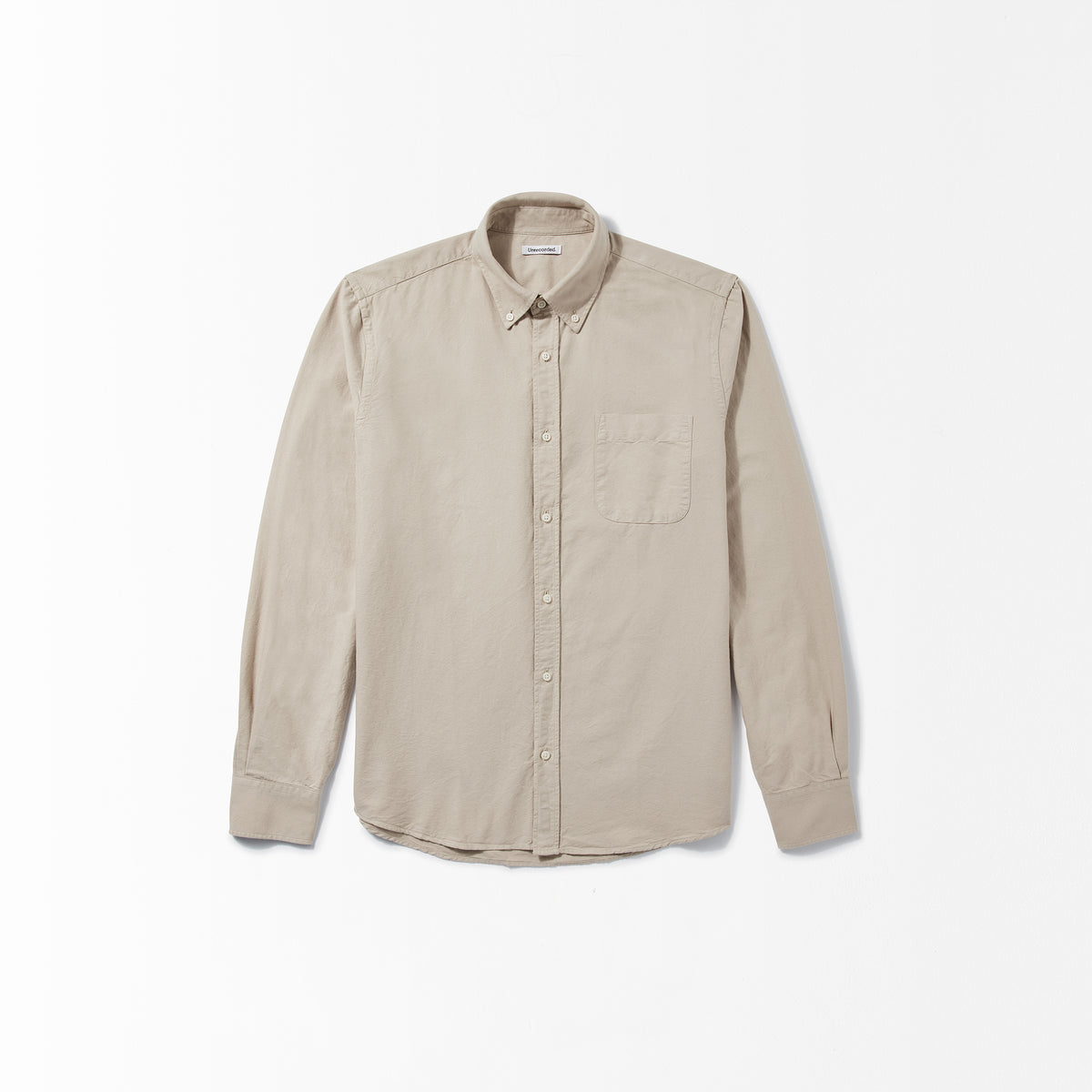 Oxford Shirt in Khaki made from Organic Cotton - Alternate