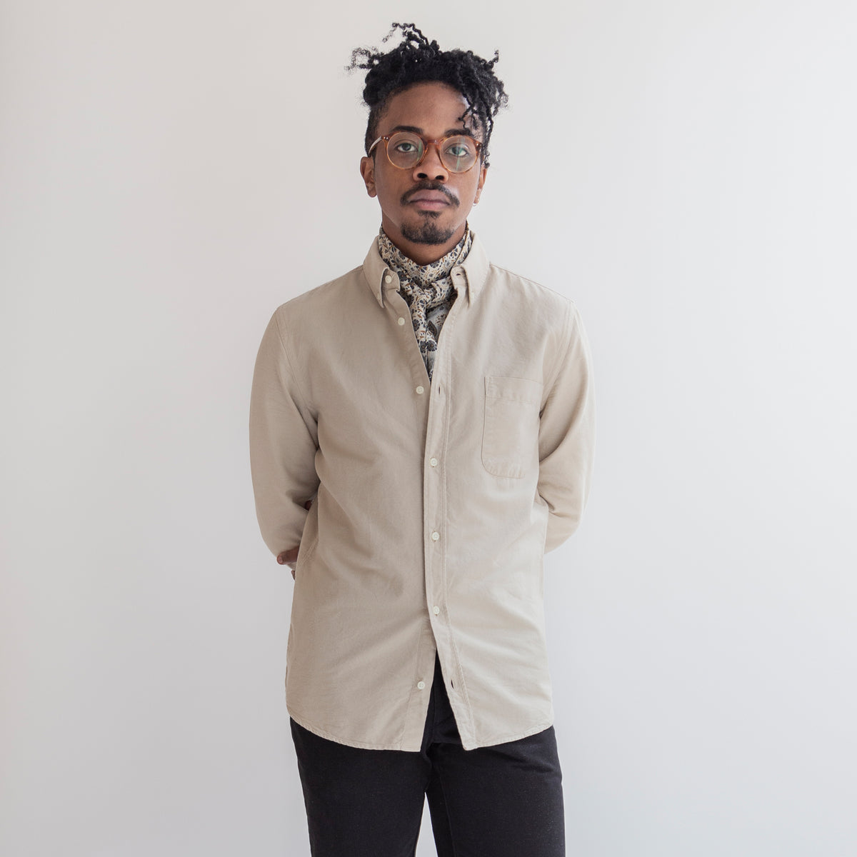 Oxford Shirt in Khaki made from Organic Cotton - Men