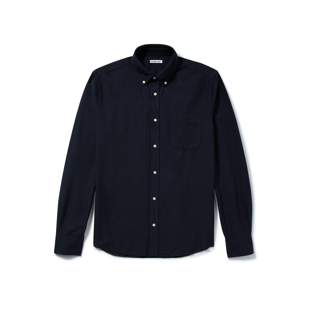 Oxford Shirt in Navy made from Organic Cotton - Alternate