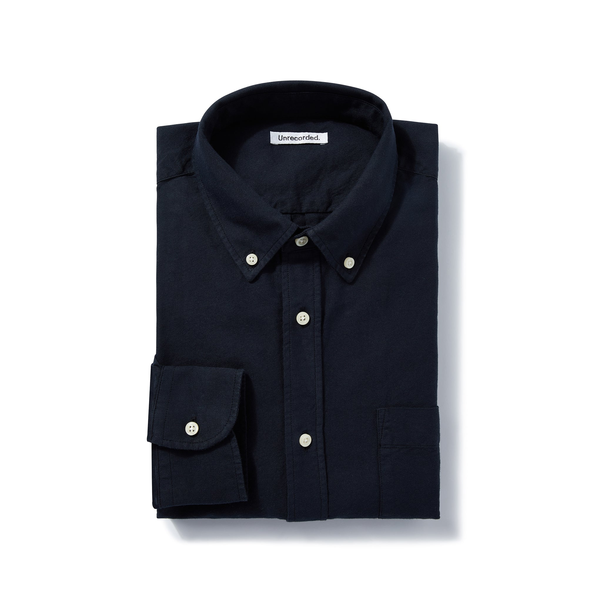 Oxford Shirt in Navy made from Organic Cotton