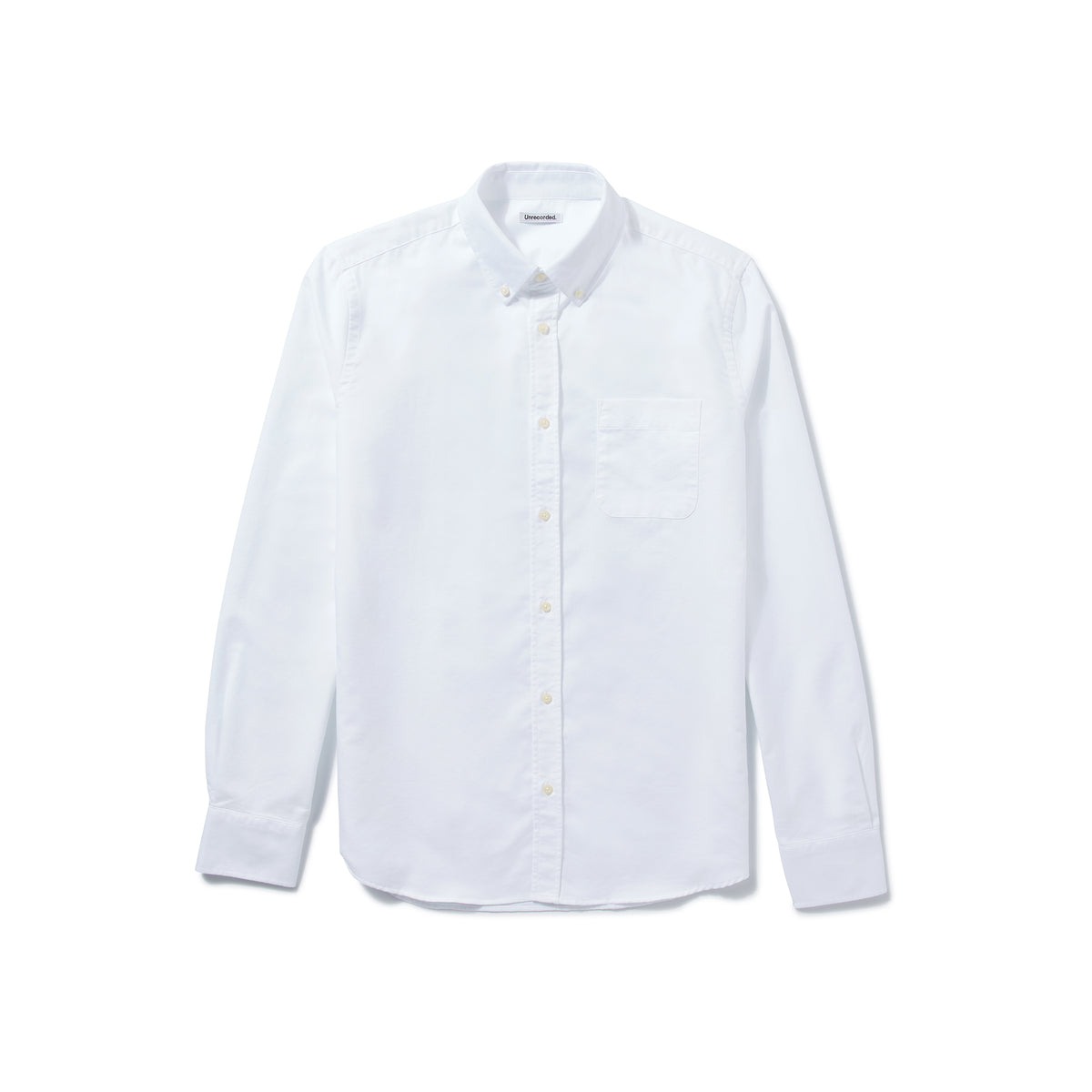Oxford Shirt White - Unrecorded - Front