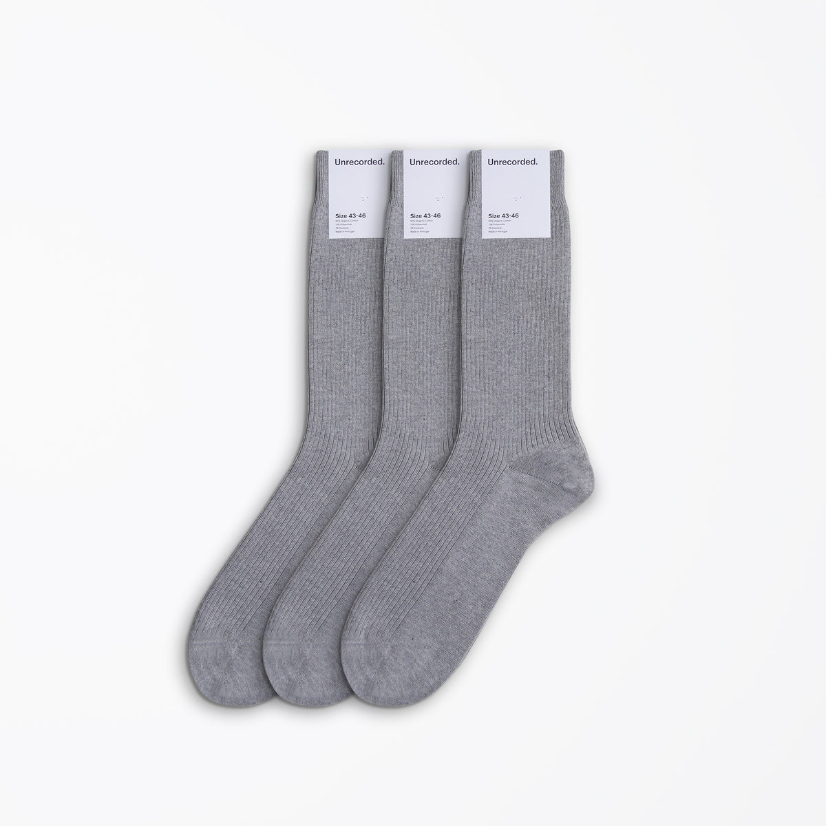 Socks Triple Grey