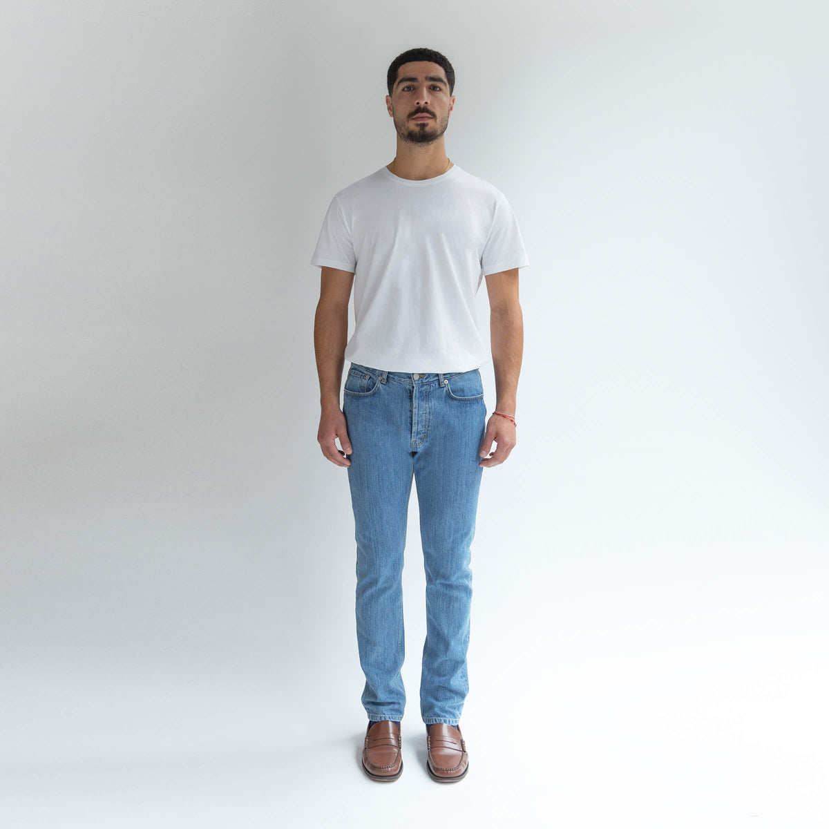 Straight Jeans in Denim made from organic cotton - Front Men - Only Men