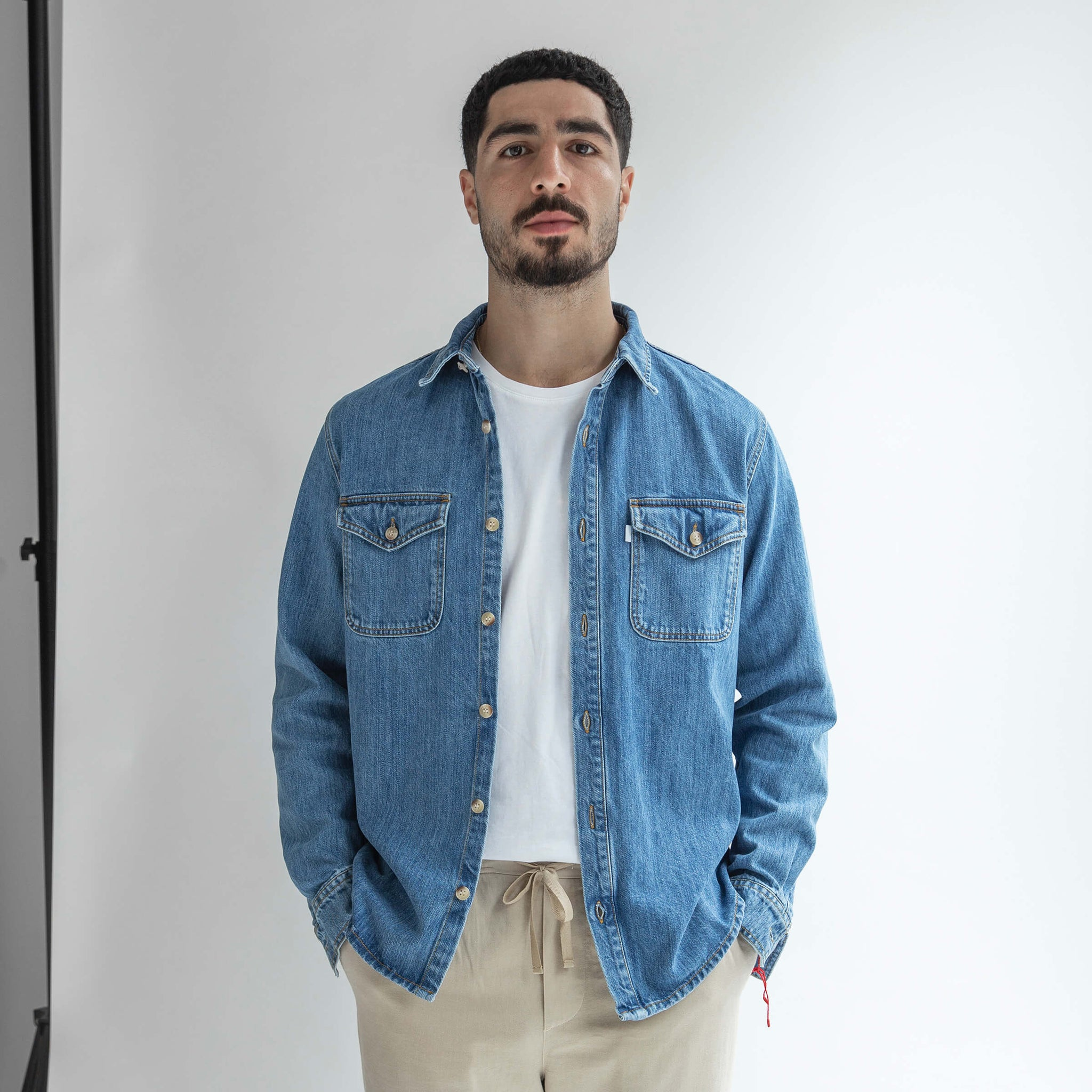 Denim Shirt made from Organic Cotton - Only Men