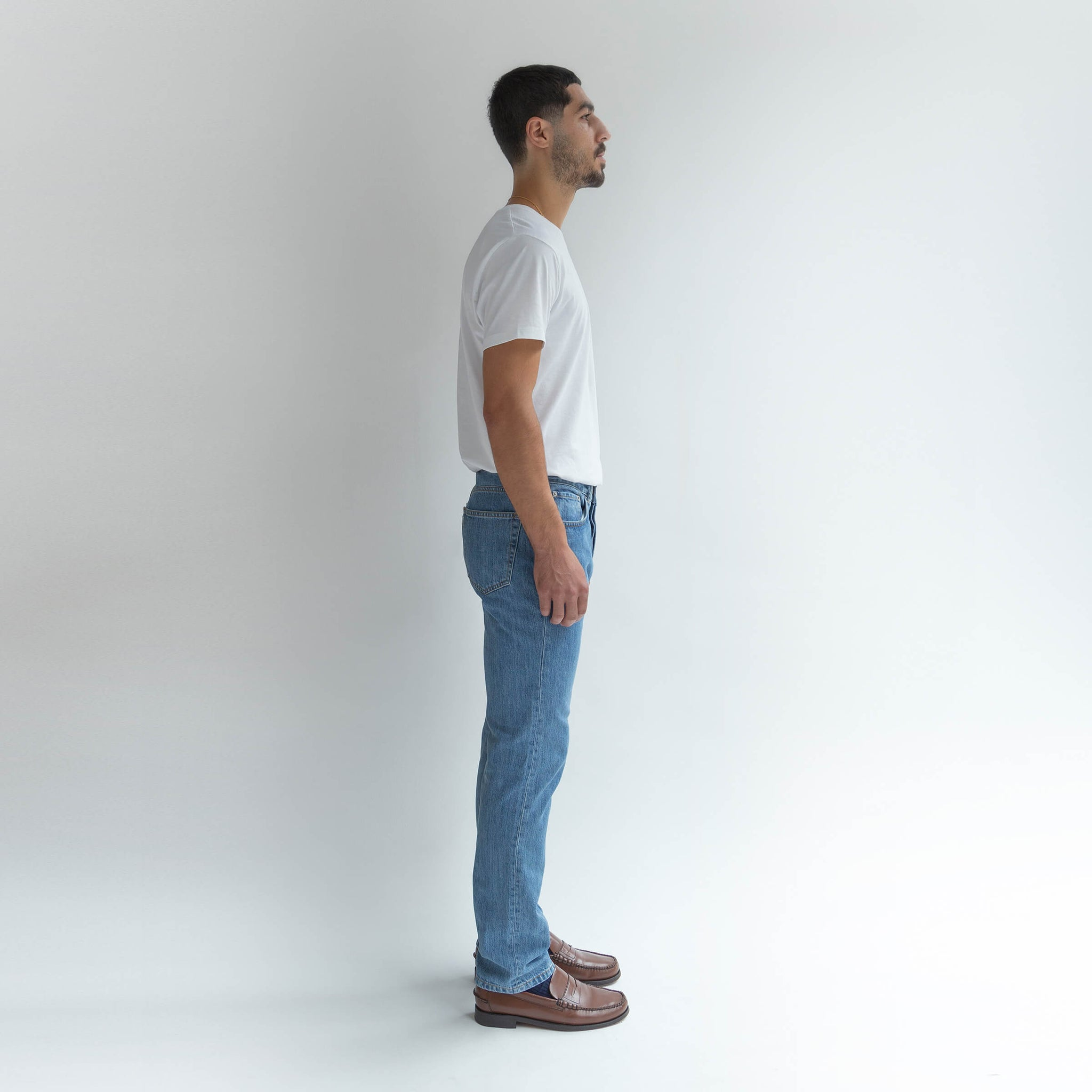 Straight Jeans in Denim made from organic cotton - Men