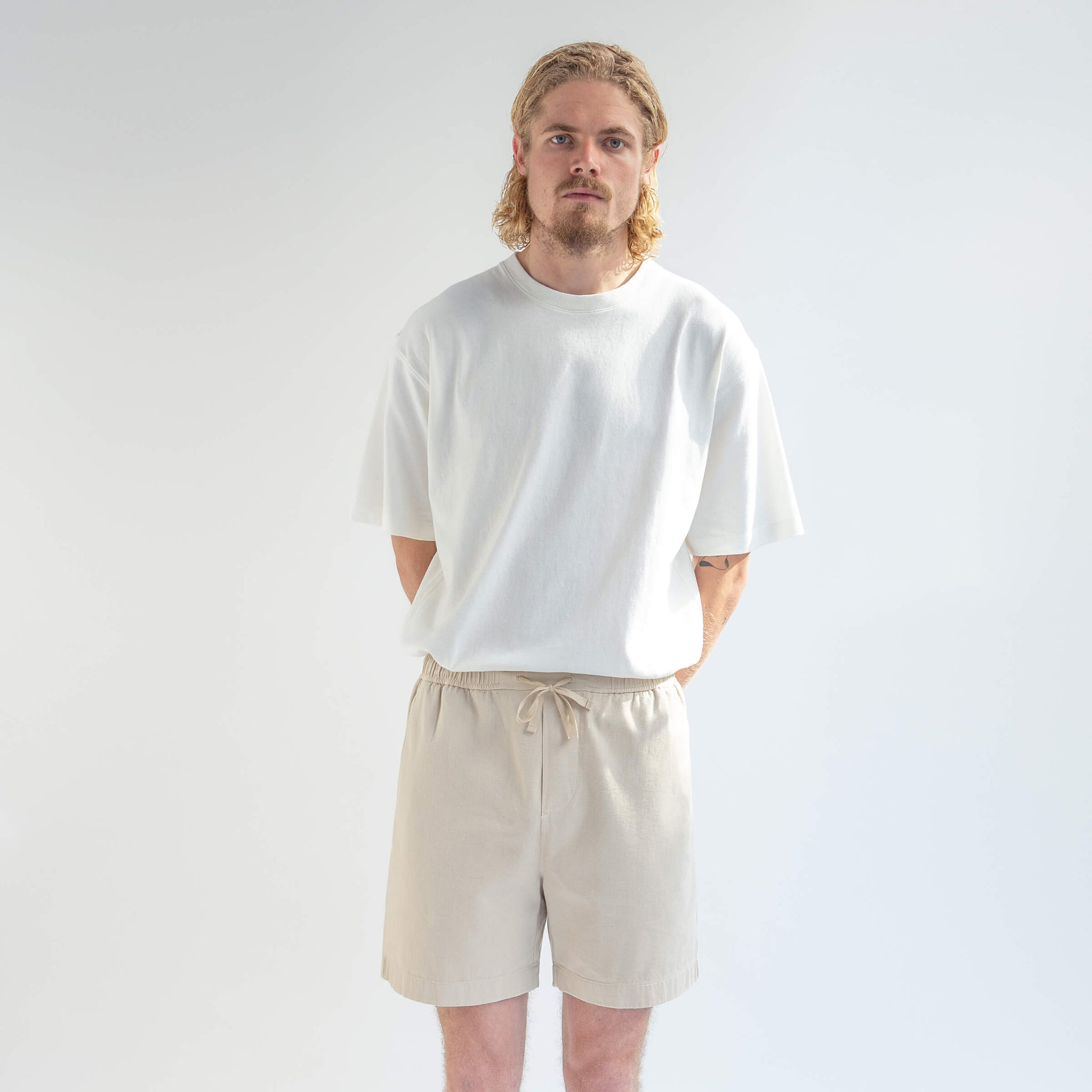 T-Shirt 220 GSM in Off-White made from organic cotton - Men