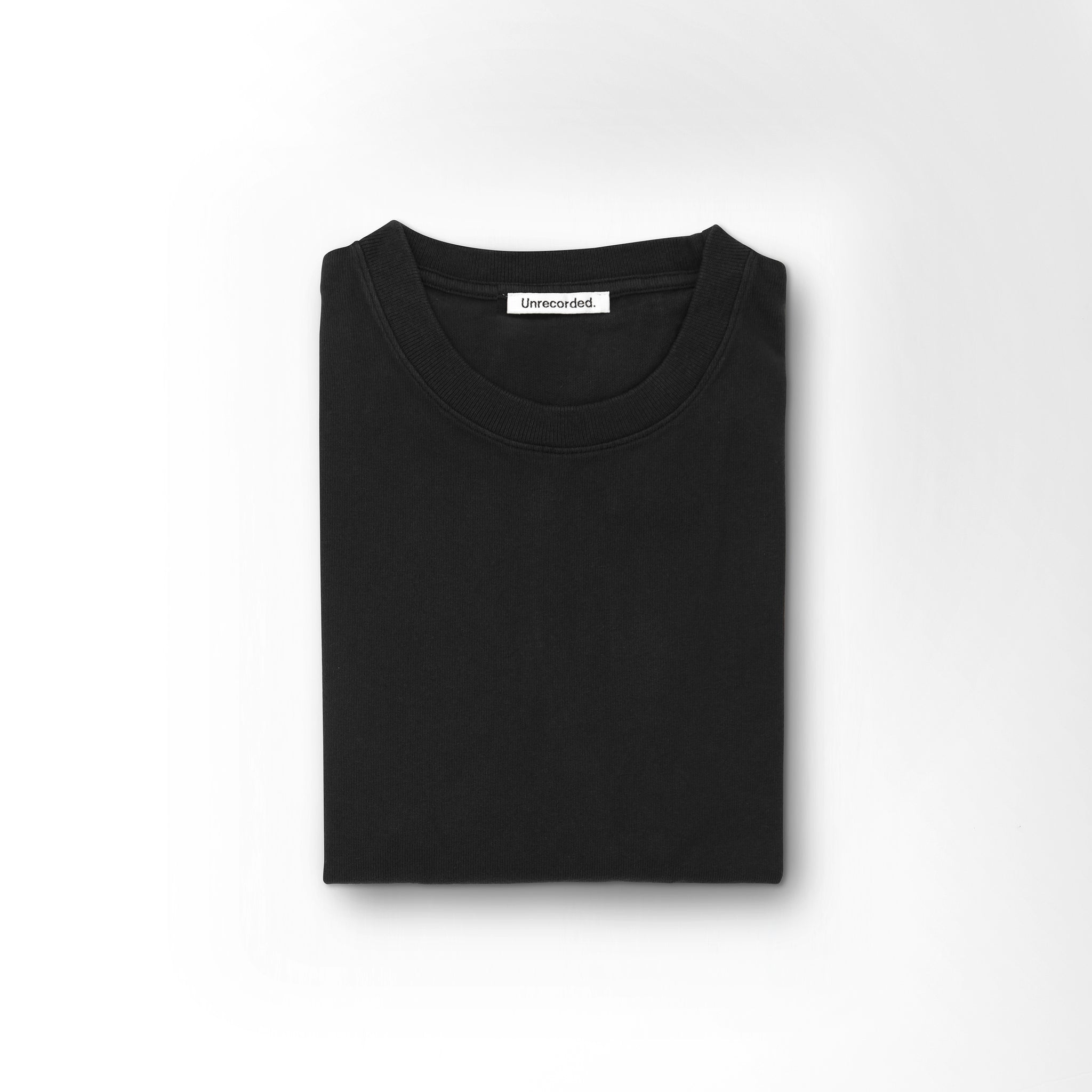 T-Shirt 220 GSM Washed Black - Unrecorded