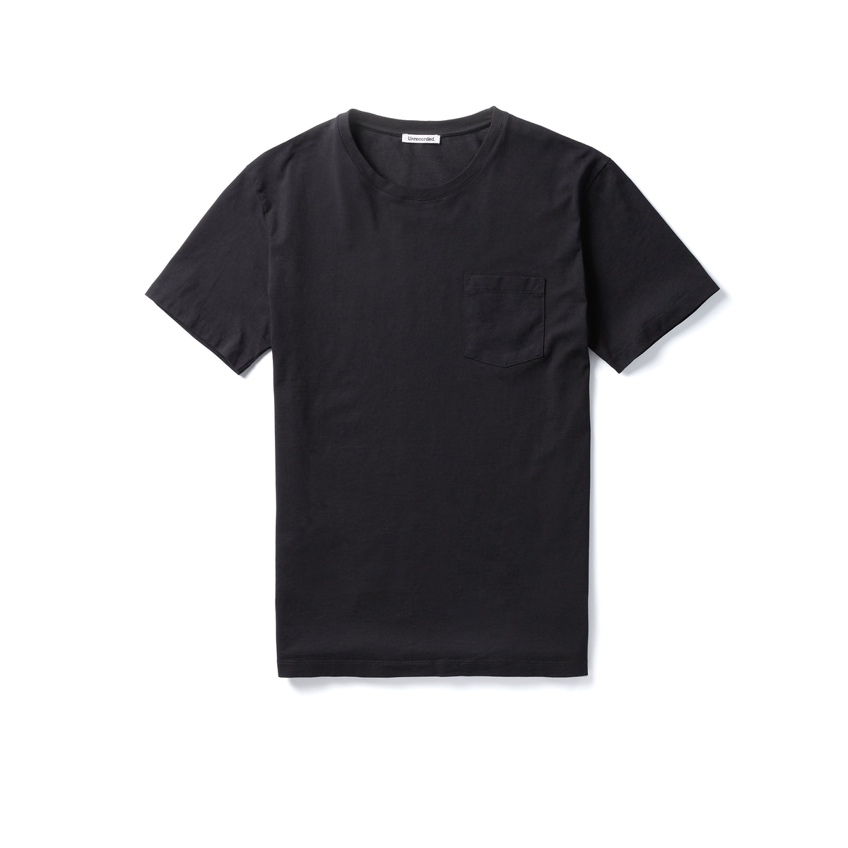 Pocket T-Shirt 155 GSM Black - Unrecorded