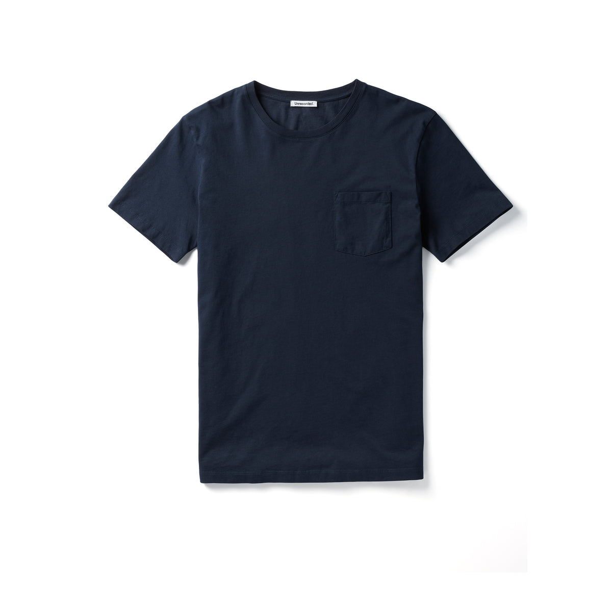Pocket T-Shirt 155 GSM Navy - Unrecorded