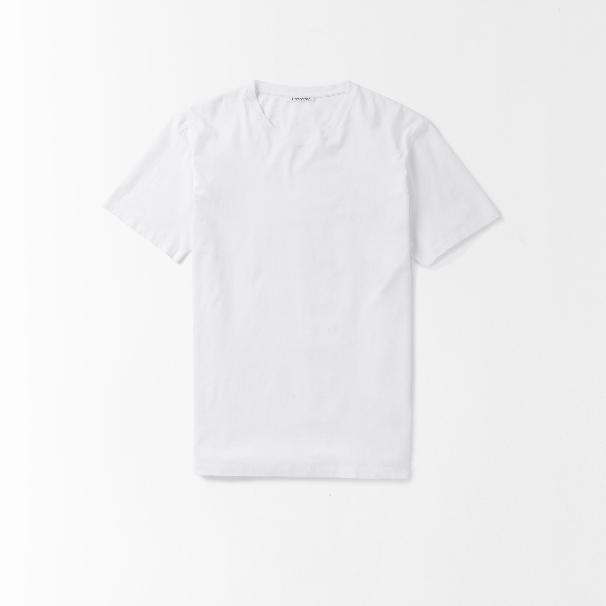 T-Shirt 155 GSM White - Unrecorded