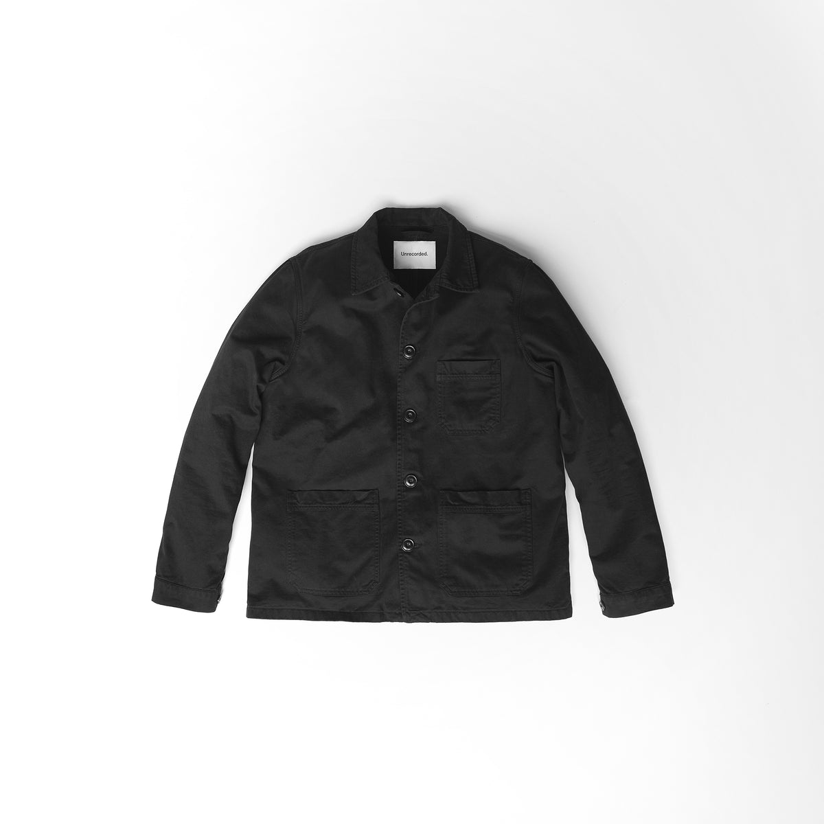 Worker Jacket in Black made from organic cotton - Alternate