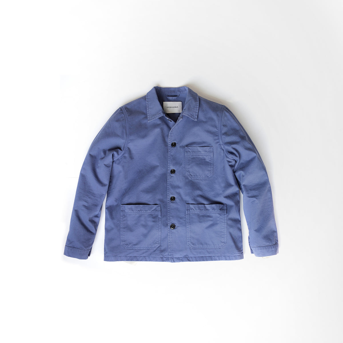 Worker Jacket in Dusty Blue made from organic cotton - Alternate