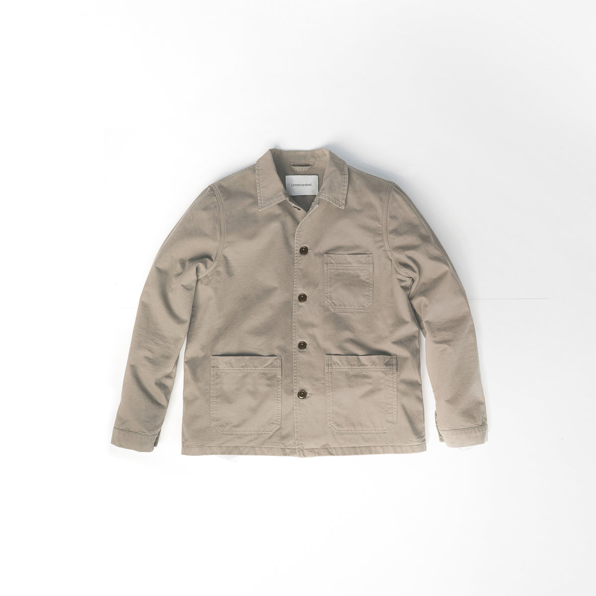 Worker Jacket in Khaki made from organic cotton - Alternate