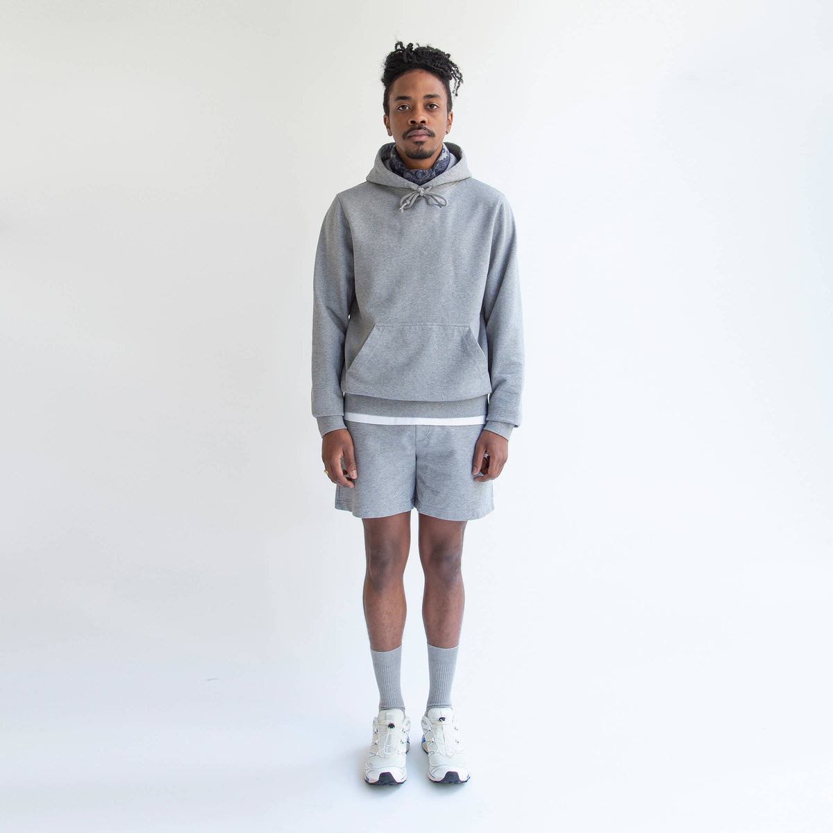 Hoodie in Grey made from organic cotton - Front Men - Only Men