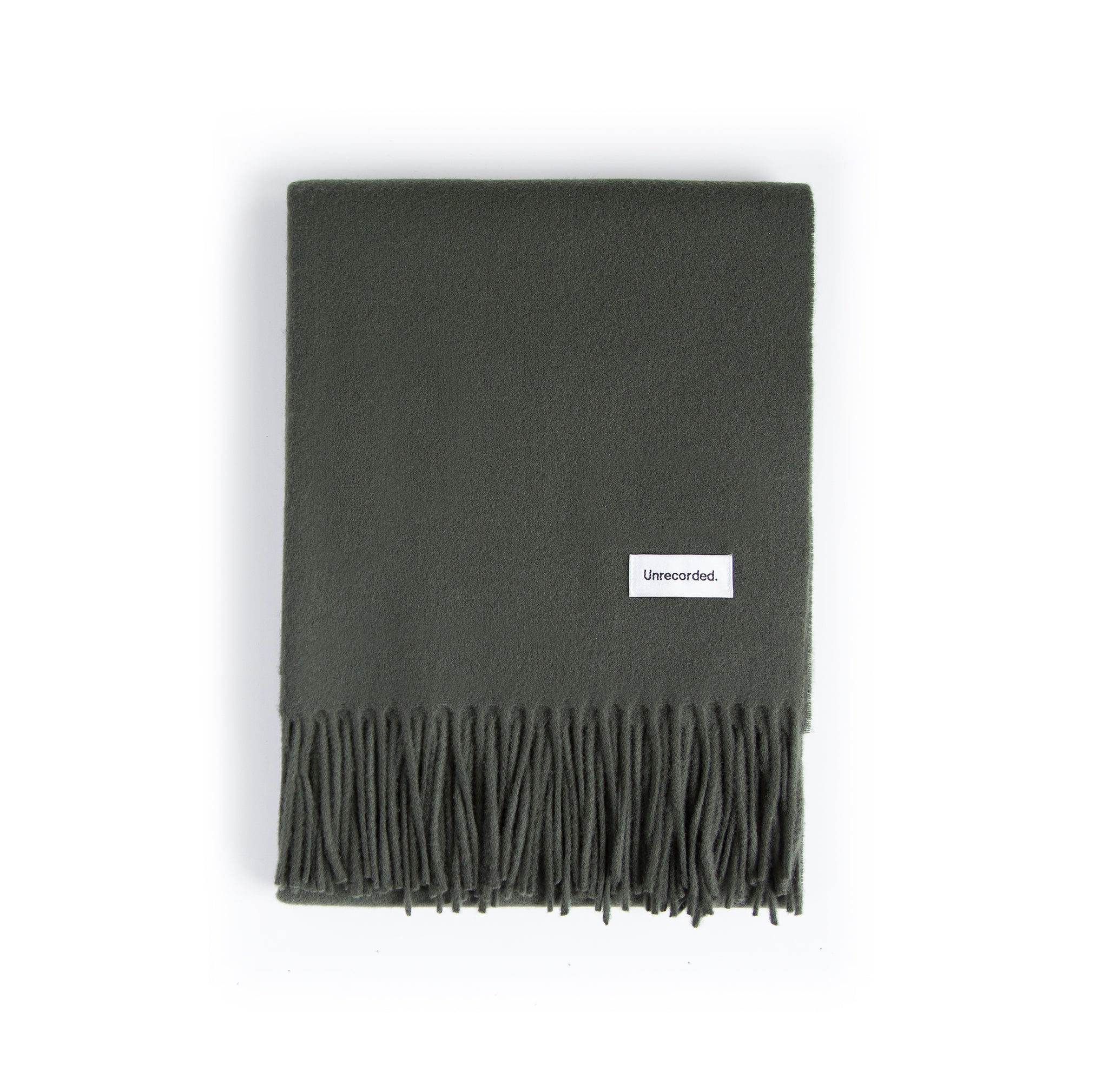 Wool Scarf Green - Unrecorded