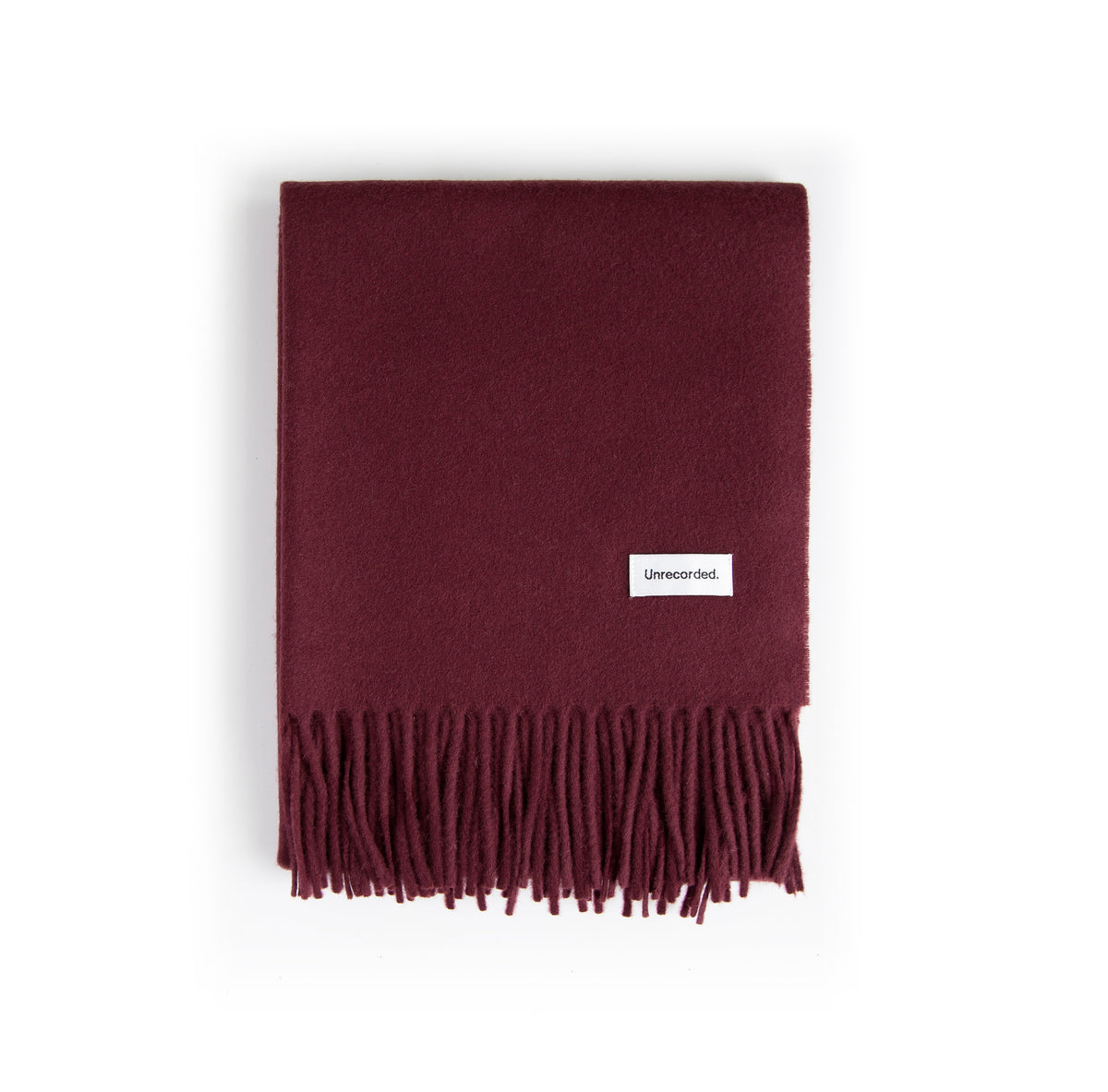 Wool Scarf Burgundy